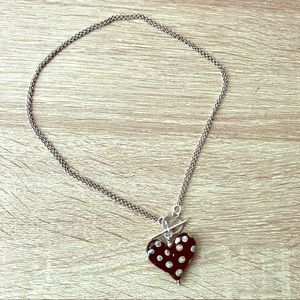 Jewelry - Bohemian Collection Glass Heart Necklace